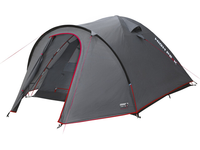 High Peak Nevada 3 Tent Dark Grey/Red